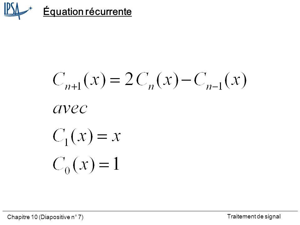 Équation récurrente