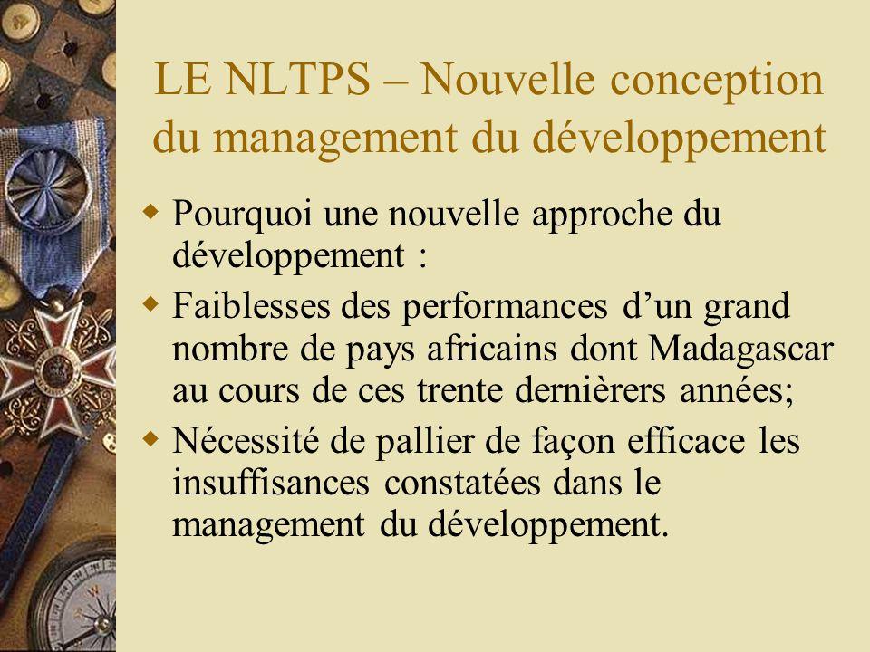 LE NLTPS – Nouvelle conception du management du développement