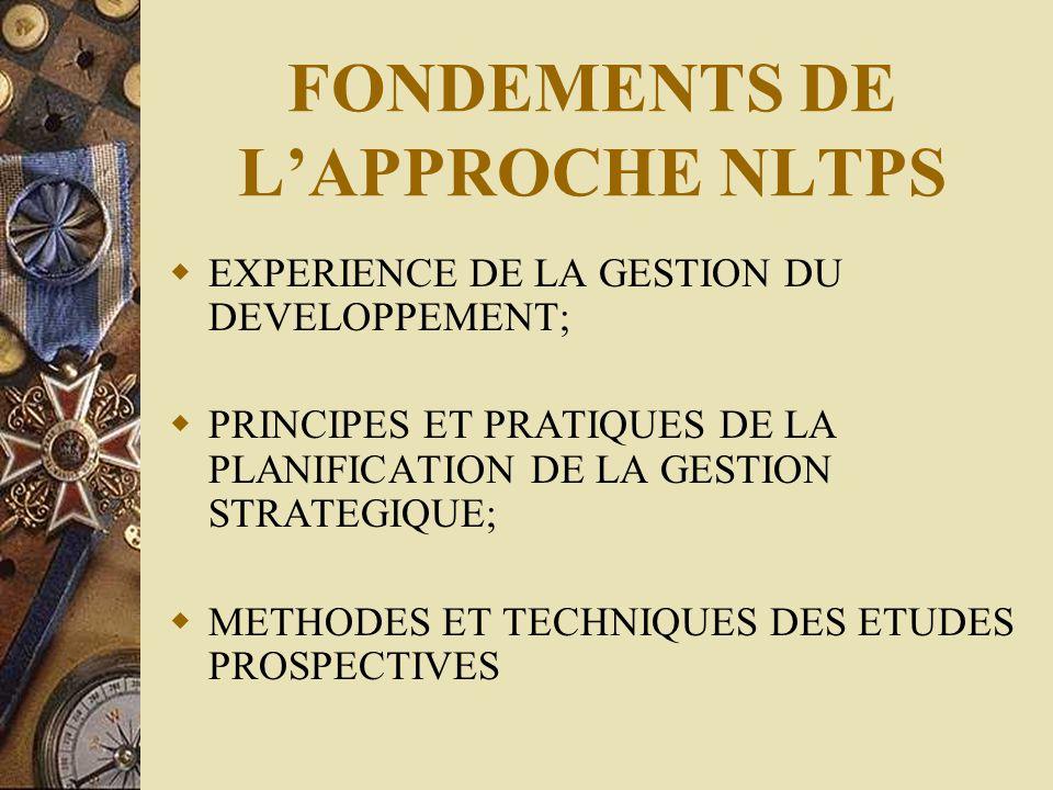 FONDEMENTS DE L'APPROCHE NLTPS