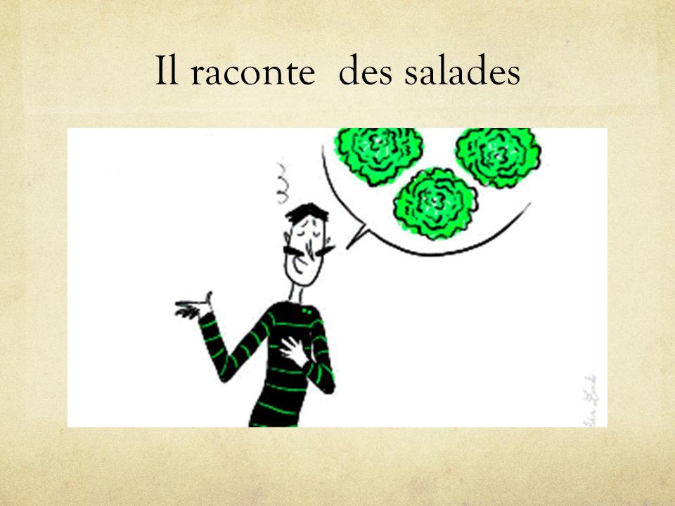 Il raconte des salades