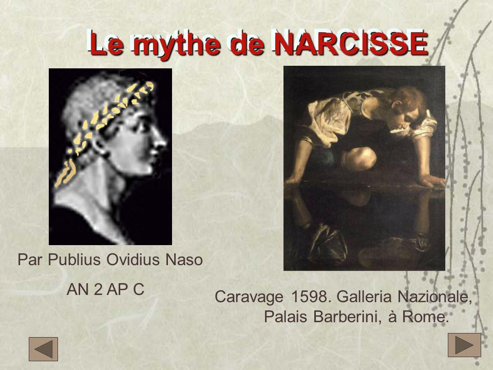 Le mythe de NARCISSE Le mythe de NARCISSE