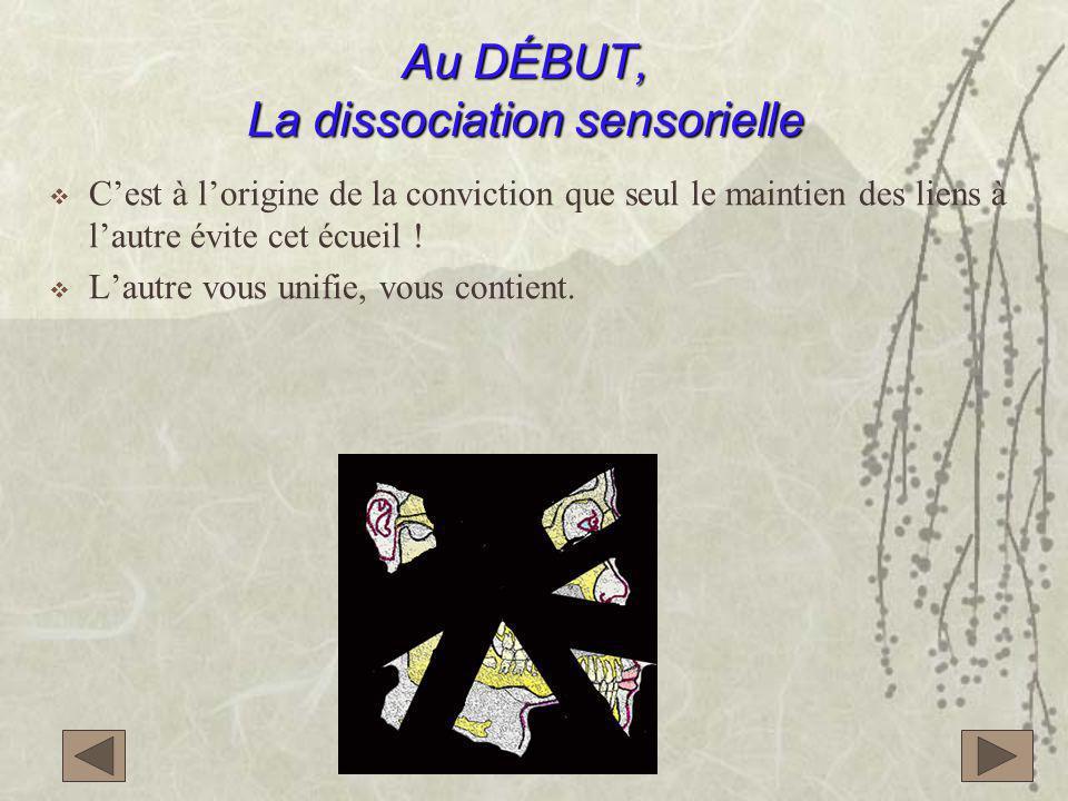 Au DÉBUT, La dissociation sensorielle