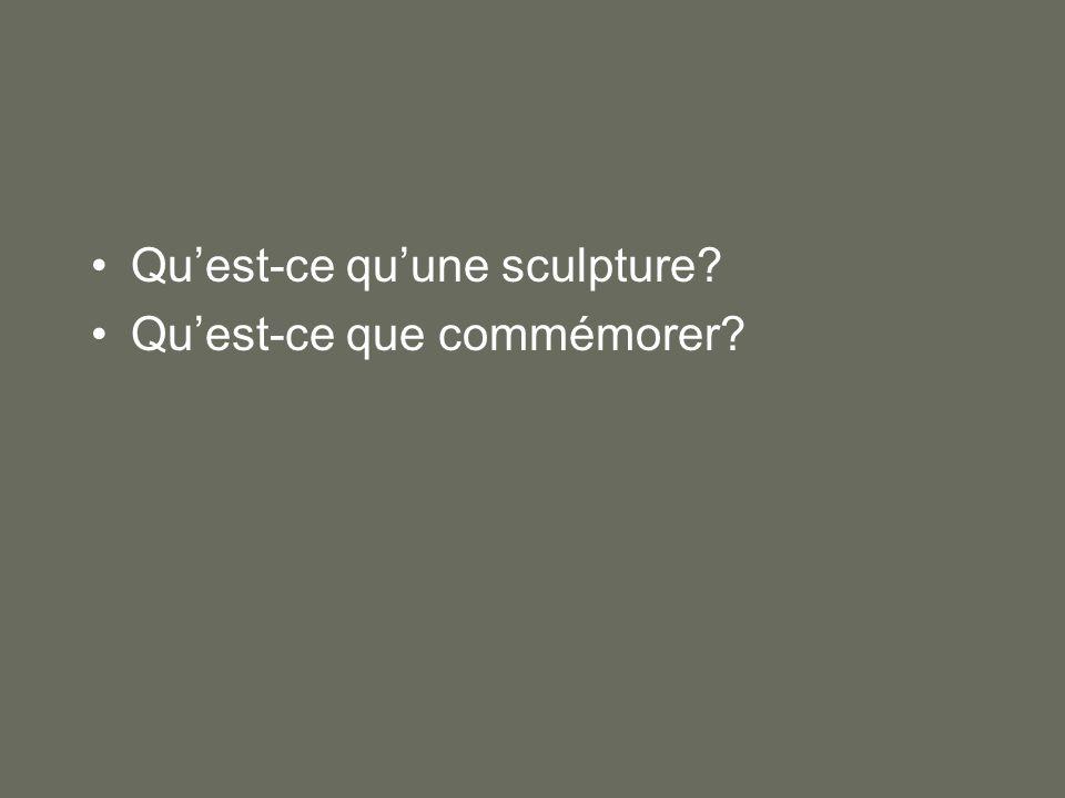 Qu'est-ce qu'une sculpture