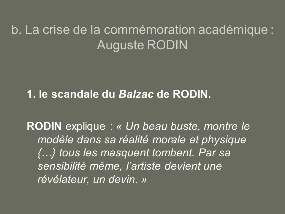 b. La crise de la commémoration académique : Auguste RODIN