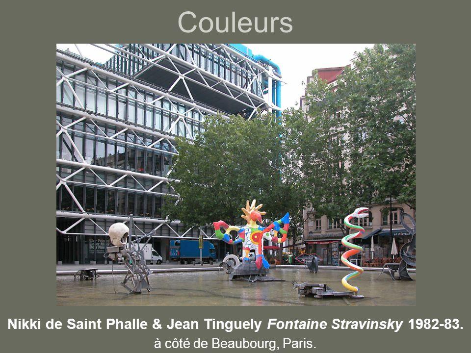 Couleurs Nikki de Saint Phalle & Jean Tinguely Fontaine Stravinsky 1982-83.