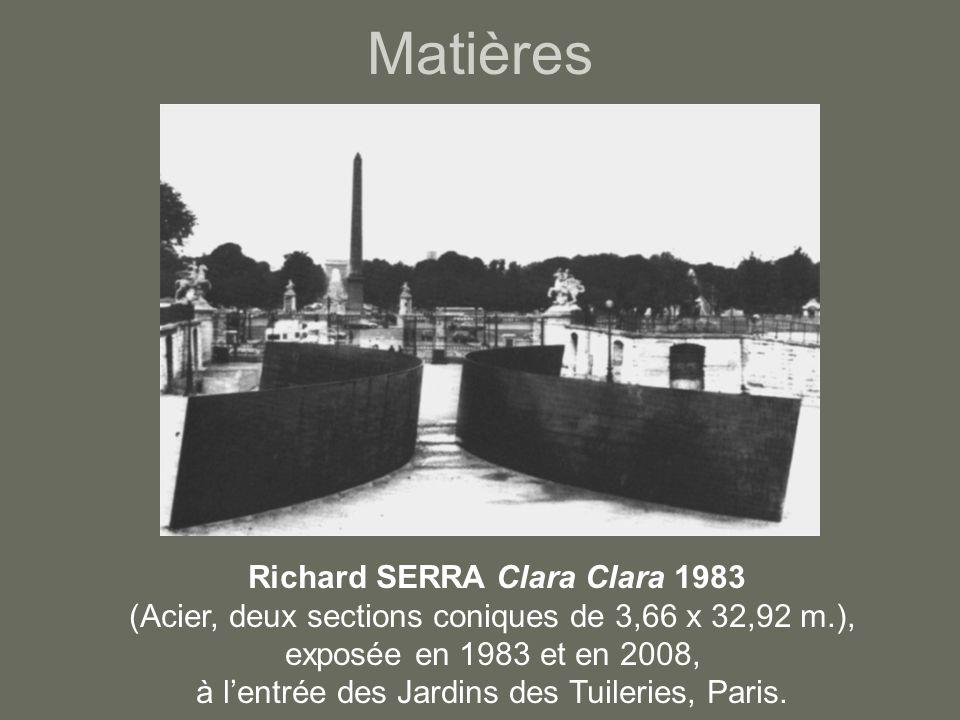 Matières Richard SERRA Clara Clara 1983