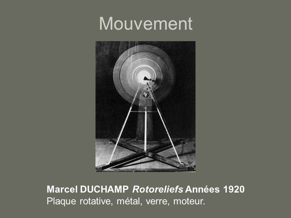 Mouvement Marcel DUCHAMP Rotoreliefs Années 1920