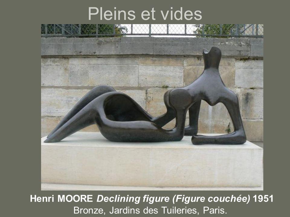 Pleins et vides Henri MOORE Declining figure (Figure couchée) 1951