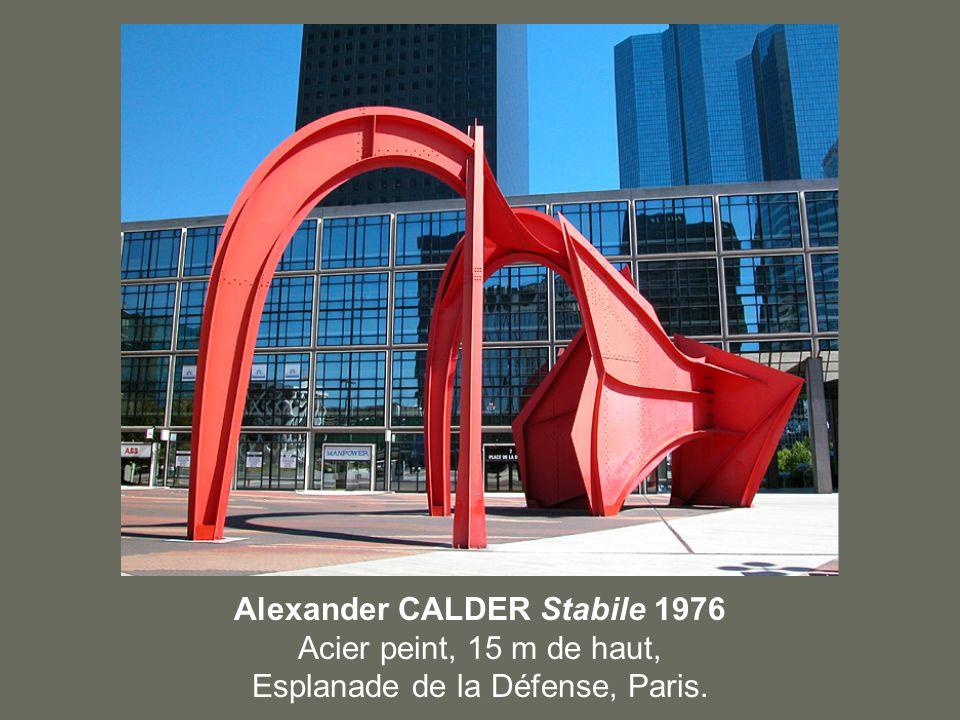 Alexander CALDER Stabile 1976 Acier peint, 15 m de haut,