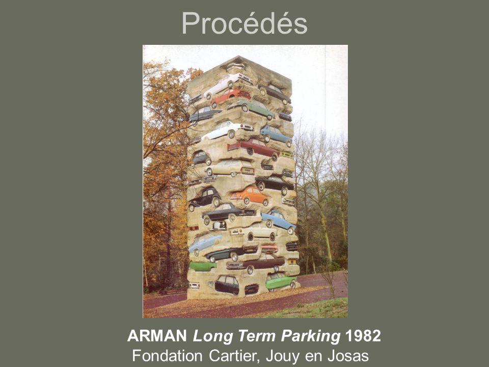 Procédés ARMAN Long Term Parking 1982 Fondation Cartier, Jouy en Josas