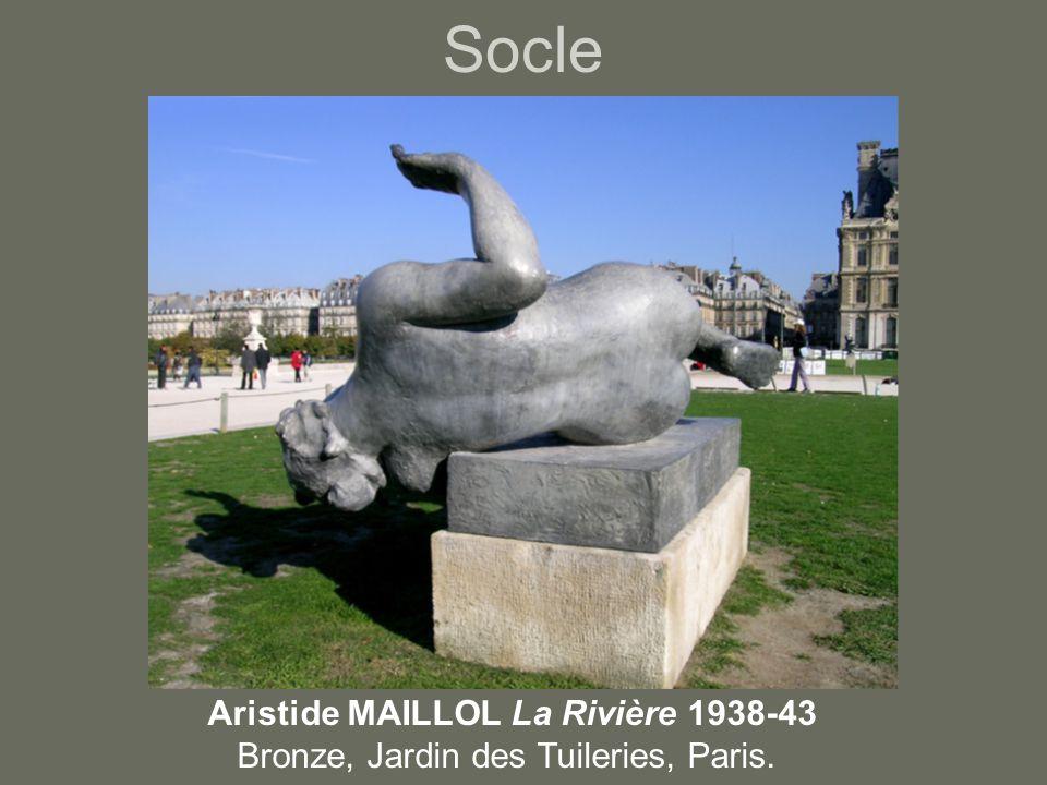 Socle Aristide MAILLOL La Rivière 1938-43