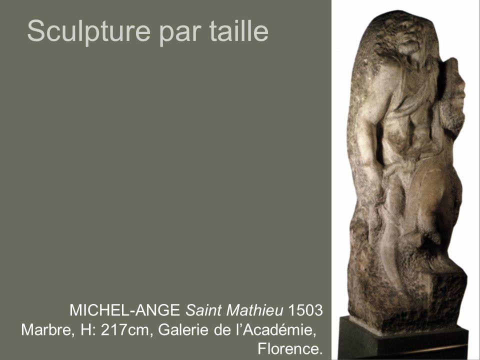 Sculpture par taille MICHEL-ANGE Saint Mathieu 1503