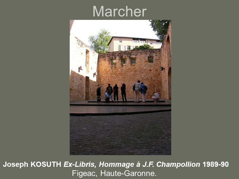 Joseph KOSUTH Ex-Libris, Hommage à J.F. Champollion 1989-90