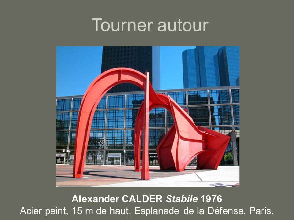 Tourner autour Alexander CALDER Stabile 1976