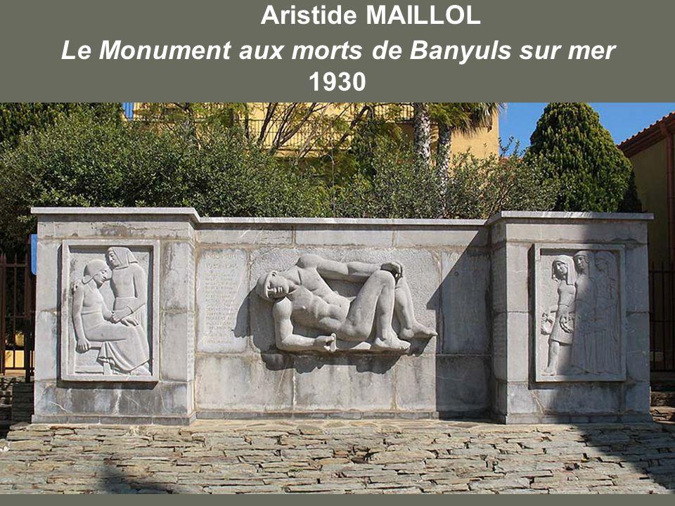 Aristide MAILLOL Le Monument aux morts de Banyuls sur mer 1930