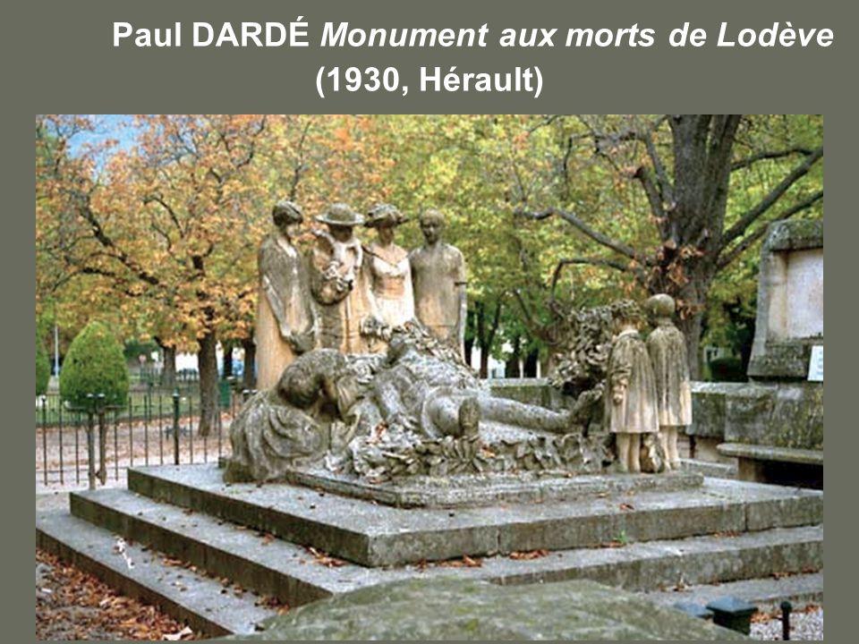 Paul DARDÉ Monument aux morts de Lodève (1930, Hérault)