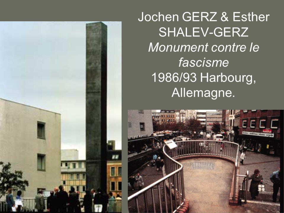 Jochen GERZ & Esther SHALEV-GERZ Monument contre le fascisme 1986/93 Harbourg, Allemagne.
