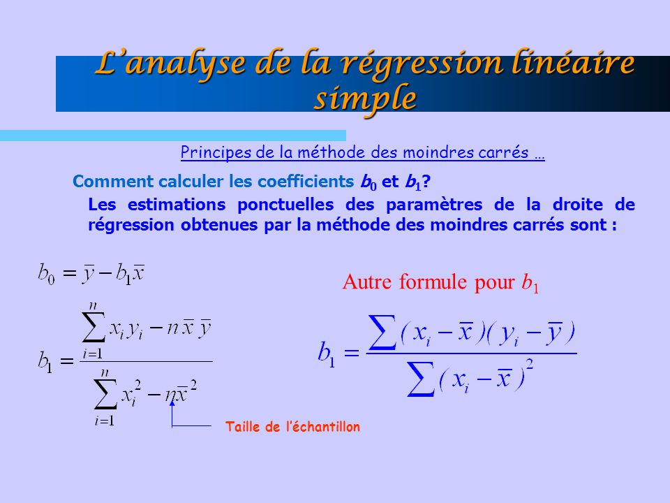 régression linéaire coefficient