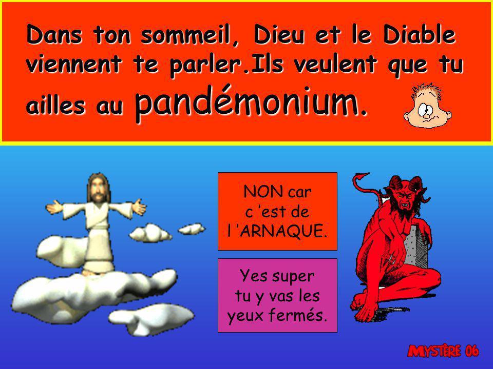 Dans ton sommeil, Dieu et le Diable viennent te parler