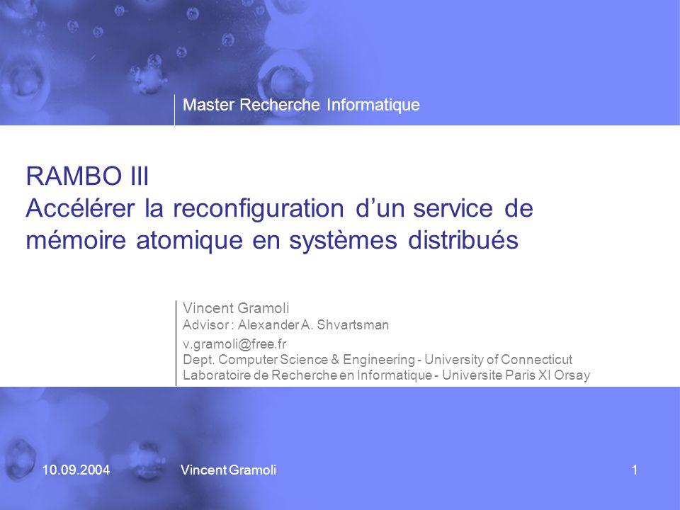 RAMBO III Accélérer la reconfiguration d'un service de mémoire atomique en systèmes distribués
