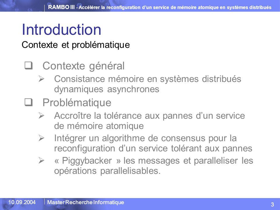 Introduction Contexte général Problématique Contexte et problématique