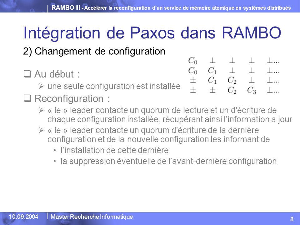 Intégration de Paxos dans RAMBO