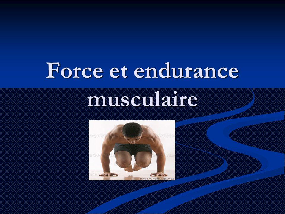 Force et endurance musculaire
