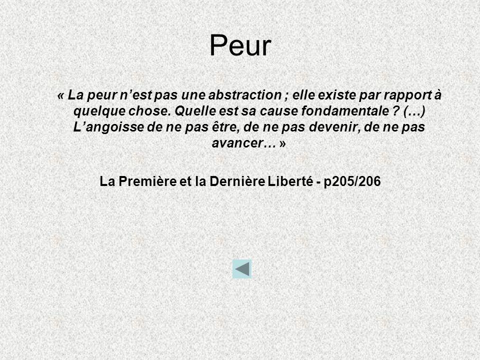 La Première et la Dernière Liberté - p205/206