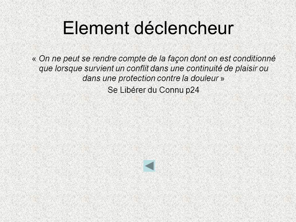 Element déclencheur