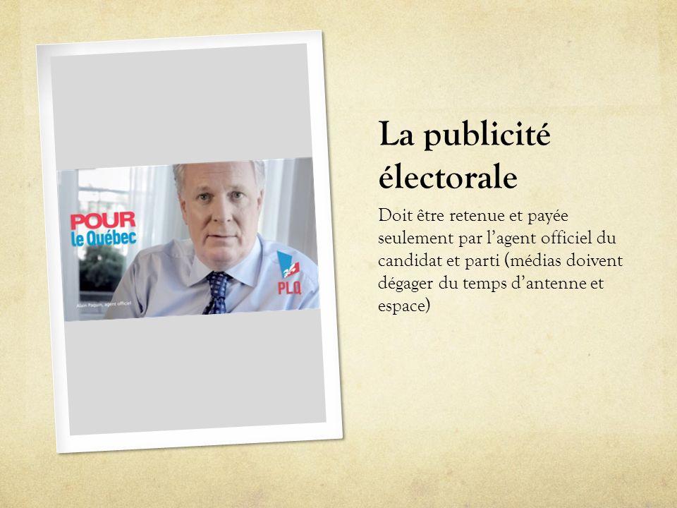 La publicité électorale