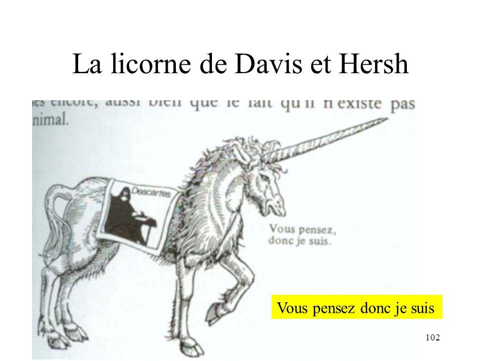 La licorne de Davis et Hersh