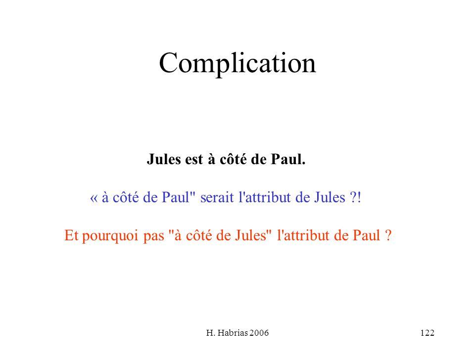 Complication Jules est à côté de Paul.