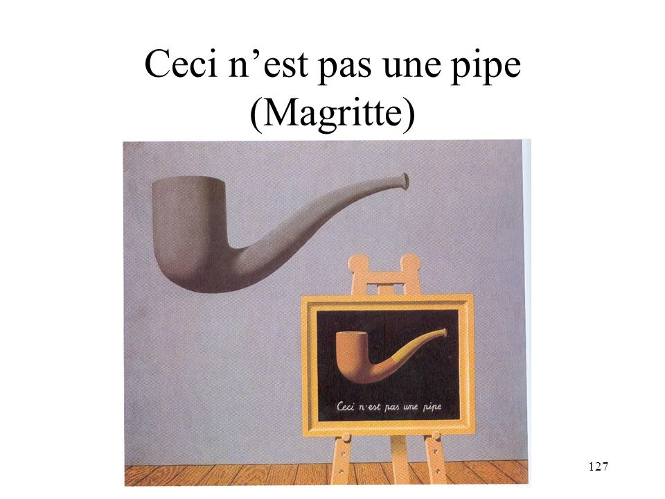 Ceci n'est pas une pipe (Magritte)