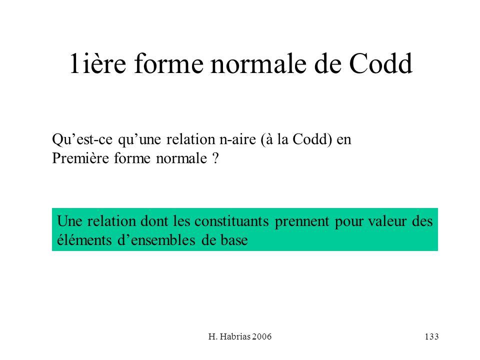 1ière forme normale de Codd