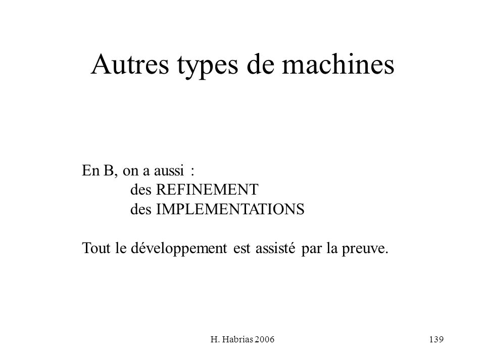 Autres types de machines