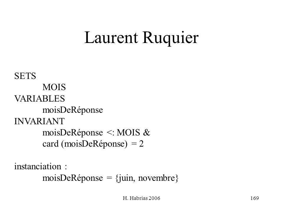 Laurent Ruquier SETS MOIS VARIABLES moisDeRéponse INVARIANT