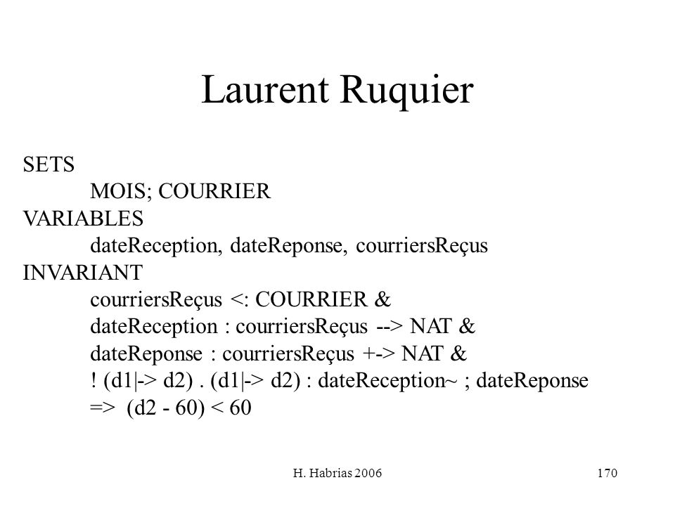 Laurent Ruquier SETS MOIS; COURRIER VARIABLES