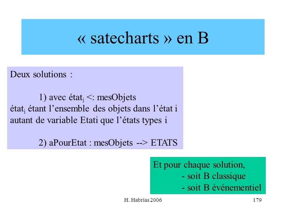 « satecharts » en B Deux solutions : 1) avec étati <: mesObjets