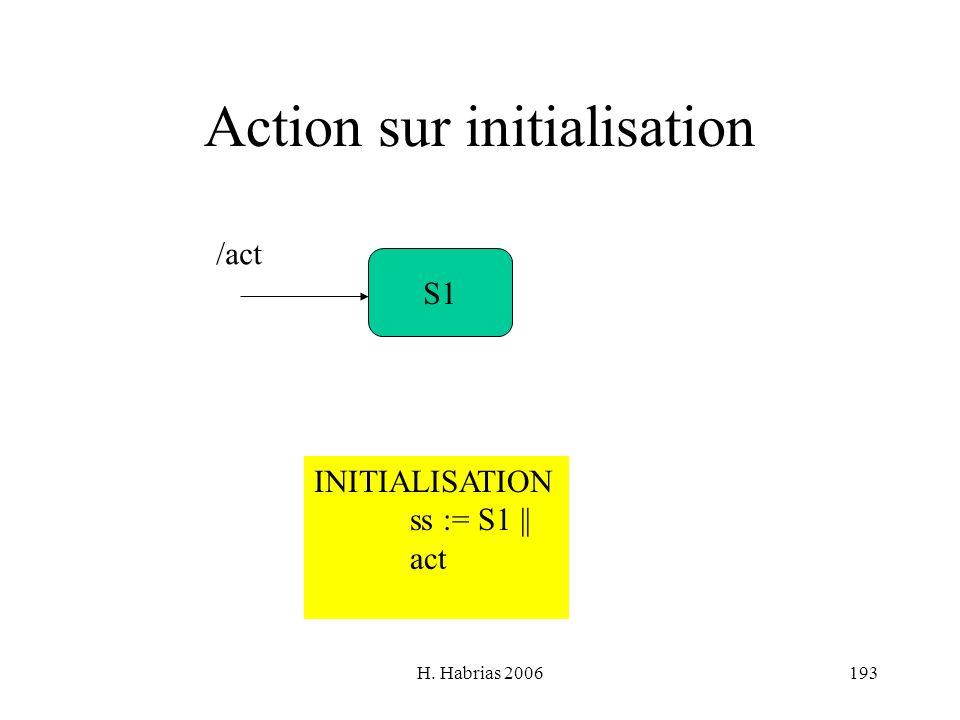Action sur initialisation