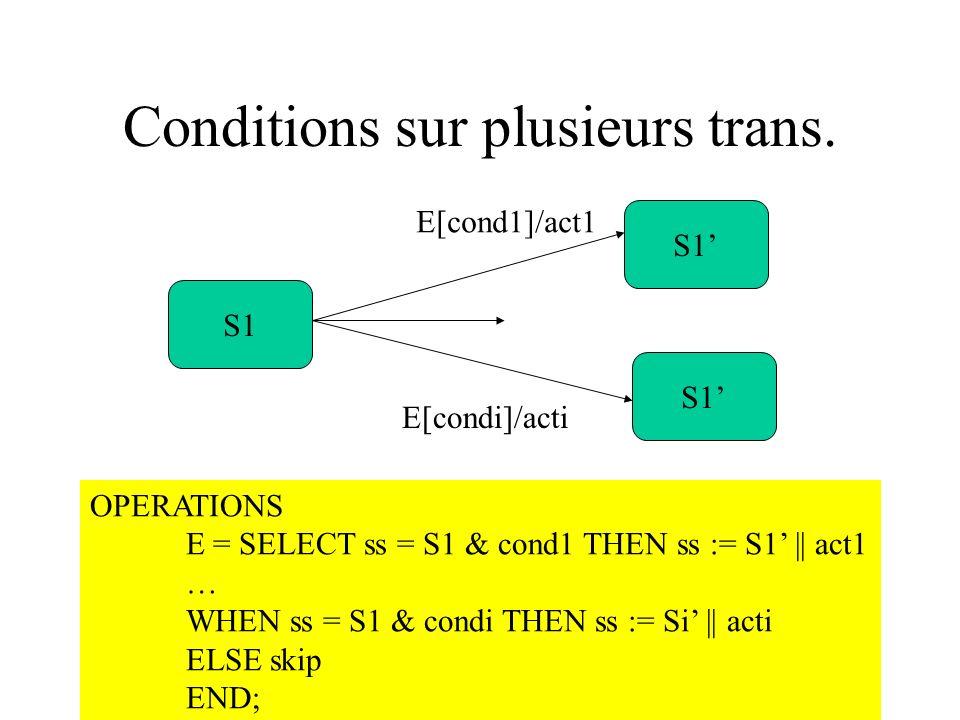 Conditions sur plusieurs trans.