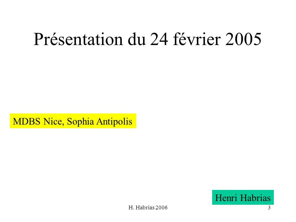 Présentation du 24 février 2005