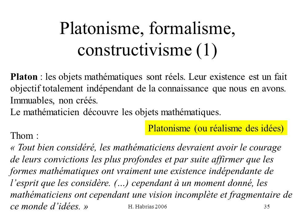 Platonisme, formalisme, constructivisme (1)