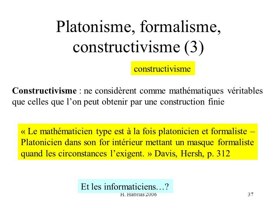Platonisme, formalisme, constructivisme (3)