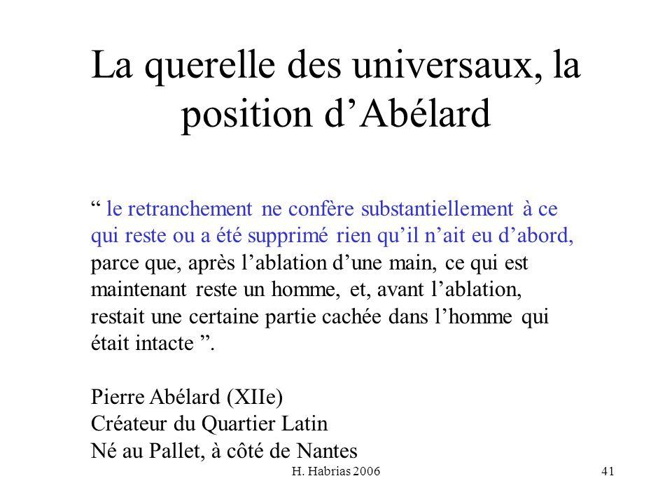 La querelle des universaux, la position d'Abélard