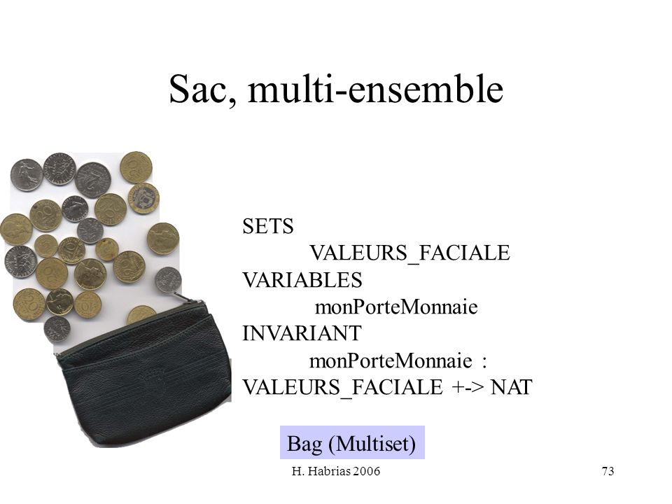 Sac, multi-ensemble SETS VALEURS_FACIALE VARIABLES monPorteMonnaie