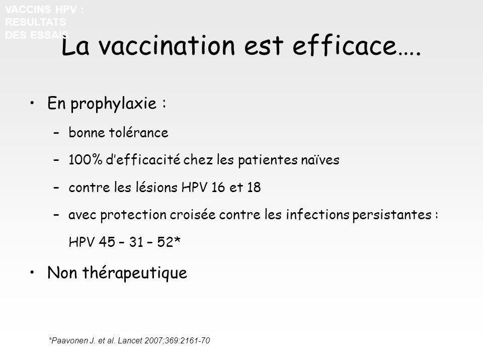 La vaccination est efficace….