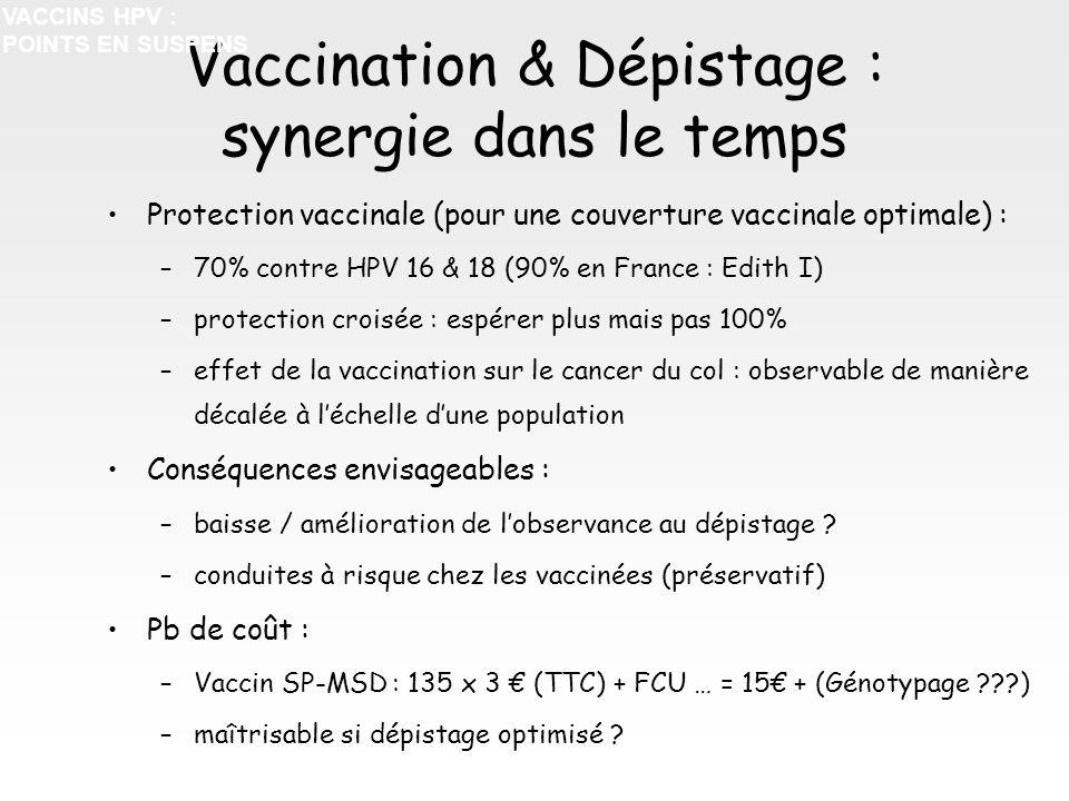 Vaccination & Dépistage : synergie dans le temps