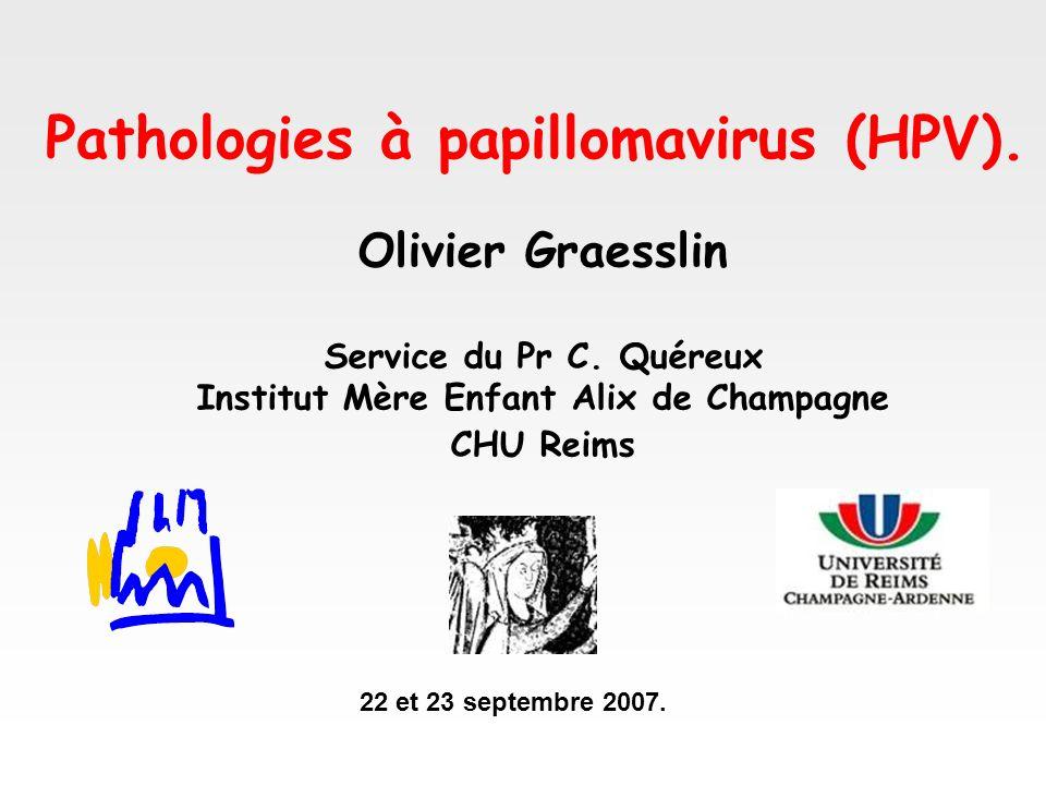 Pathologies à papillomavirus (HPV).
