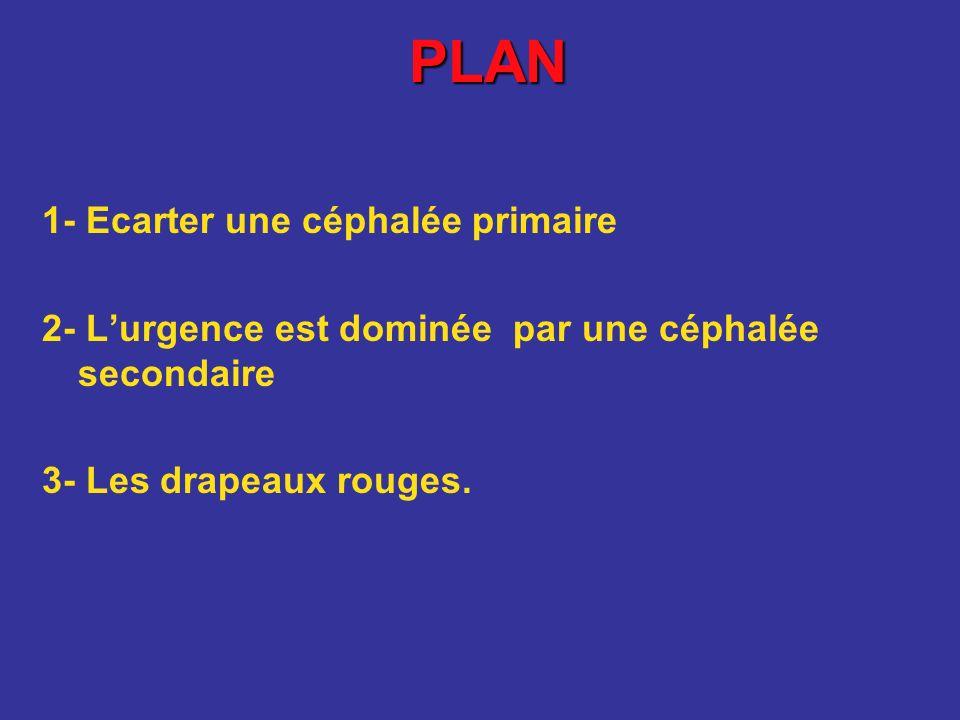 PLAN 1- Ecarter une céphalée primaire