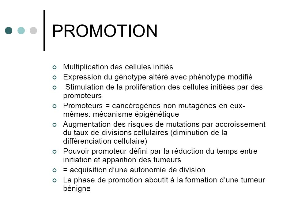 PROMOTION Multiplication des cellules initiés